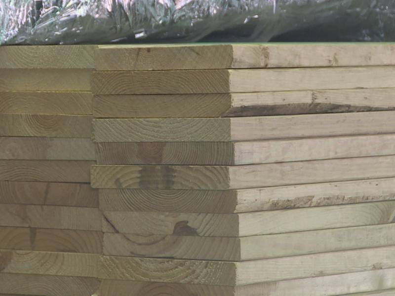 Lumber at Bailey Lumber and Supply Co. in Meridian.