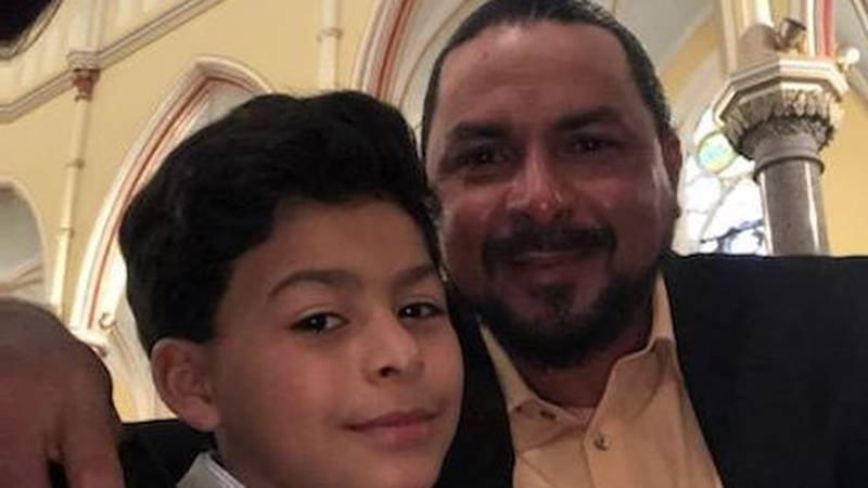 Elder Tomas Ocampomejia and his son. Ocampomejia was wrongfully declared dead in a crash on...
