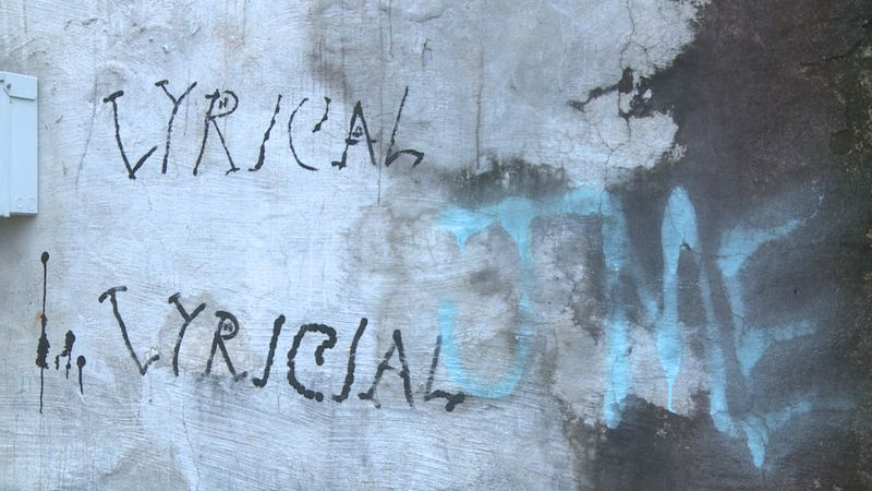 Graffiti in downtown Meridian