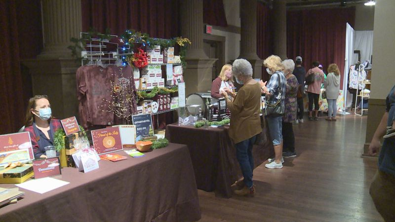 Shoppers made their way to the MSU Riley Center for the annual Merry Meridian Holiday Market to...
