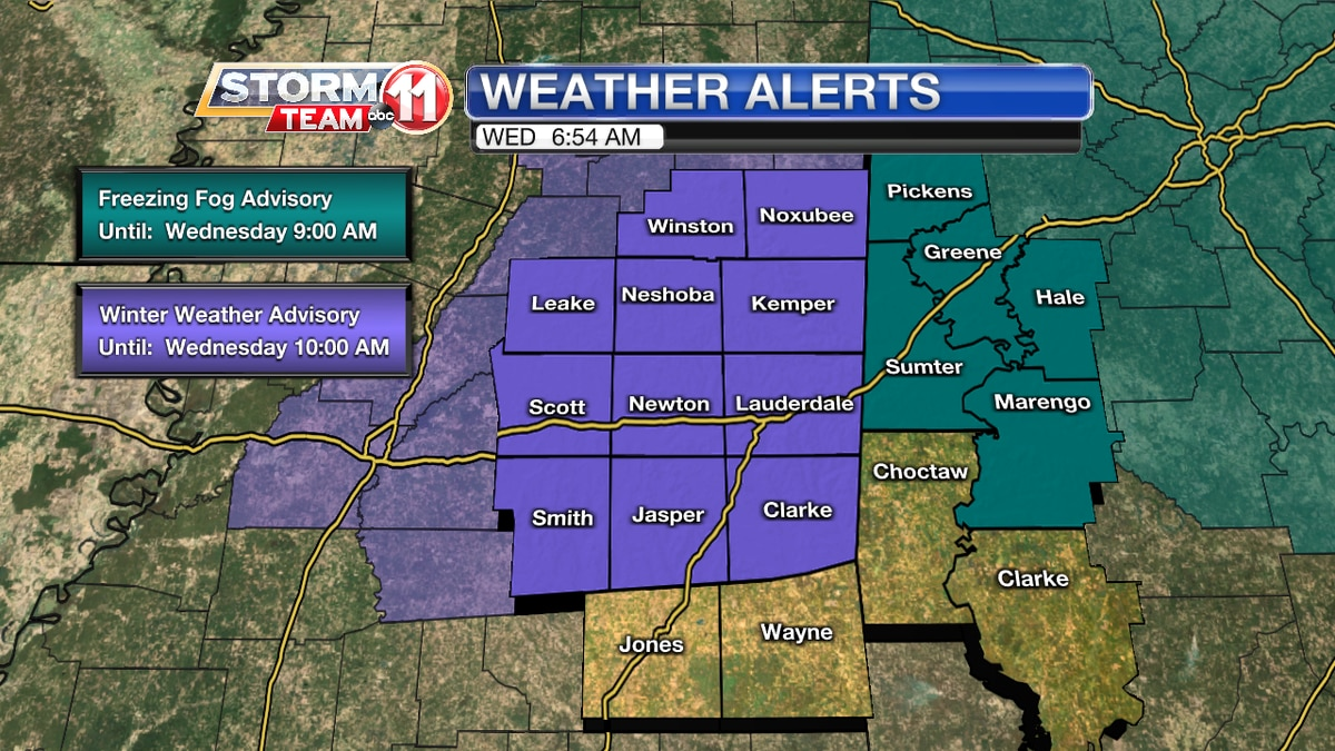 Weather Alerts - Wednesday Morning