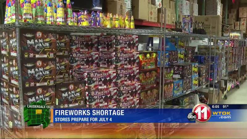 Local fireworks store stocked despite national shortage