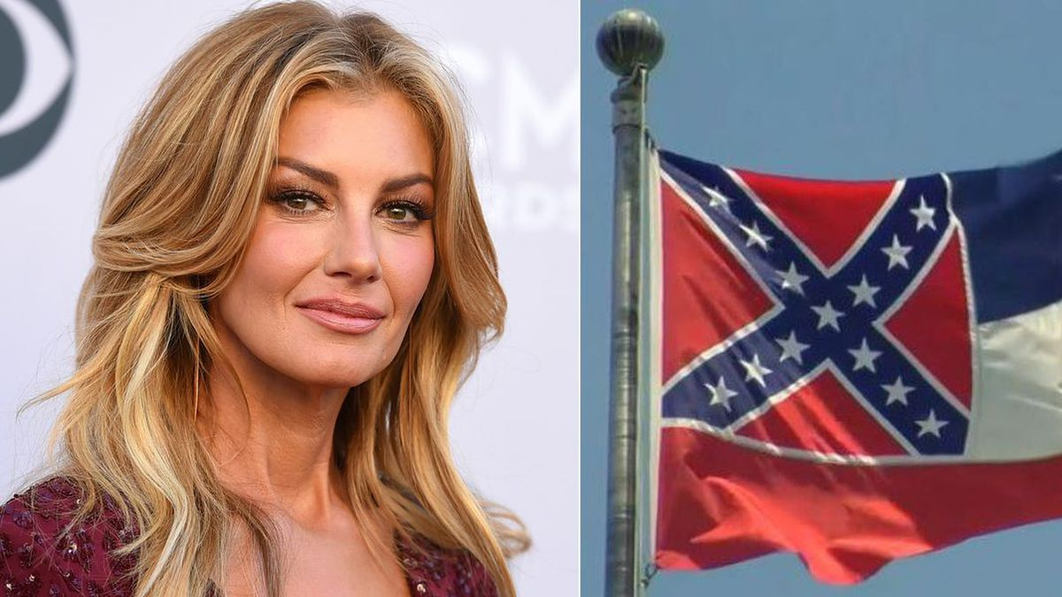Faith Hill calls for state flag to be changed.