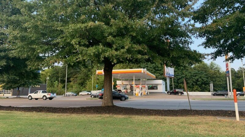 Possible human remains found in the wooded area behind this Shell station.