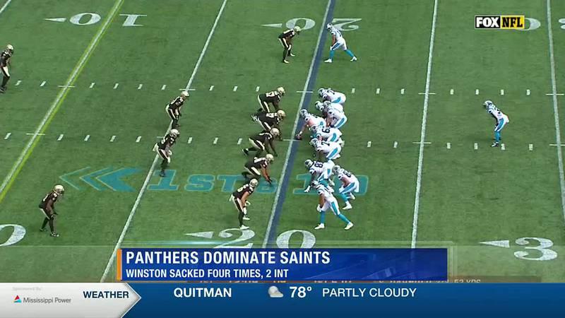 Panthers Dominate Saints