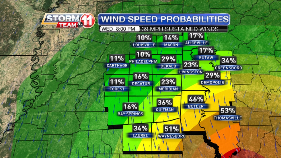 Chance of Tropical Storm-Force Winds