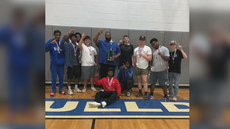 2020-21 Southeast Lauderdale boys powerlifting team