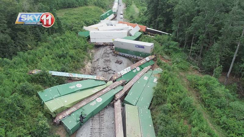 Derailed train from Wednesday.
