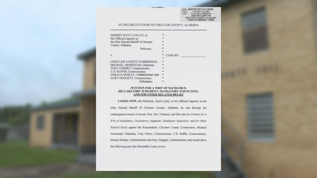 Lawsuit filed against the Choctaw Co. Commission
