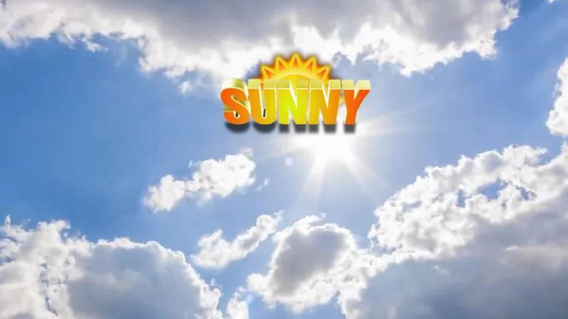 Warm sun will shine through this weekend.