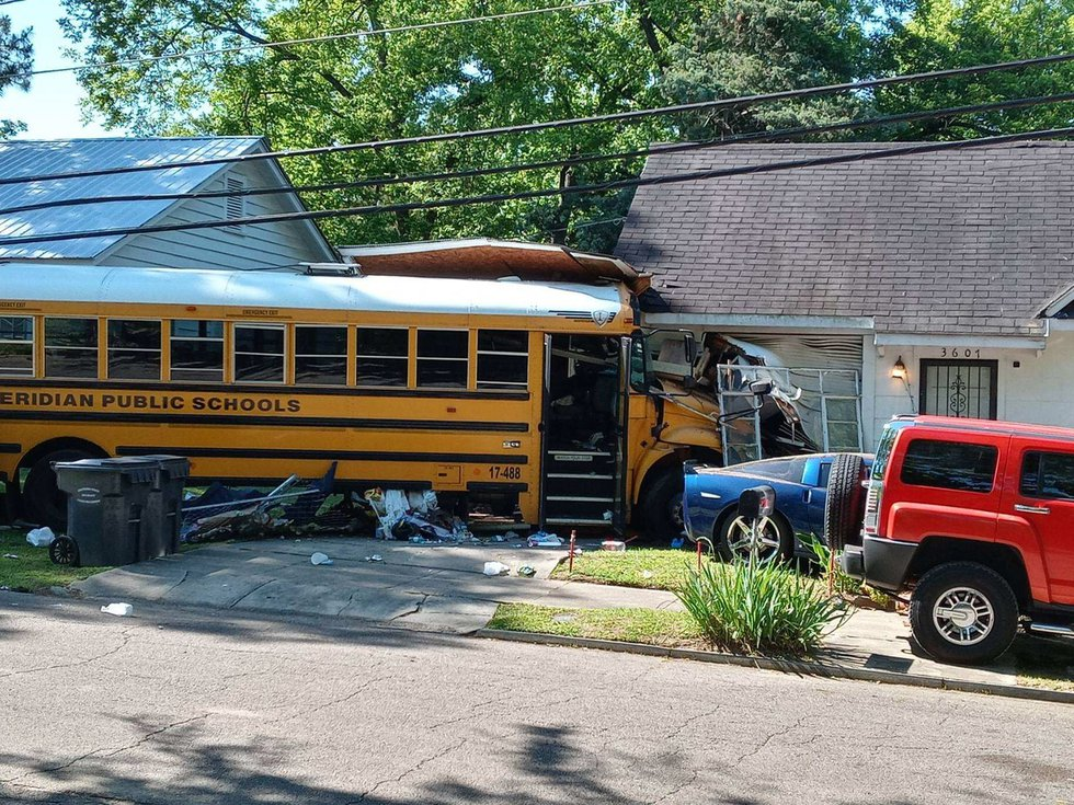 The homeowners were inside the accident happened.