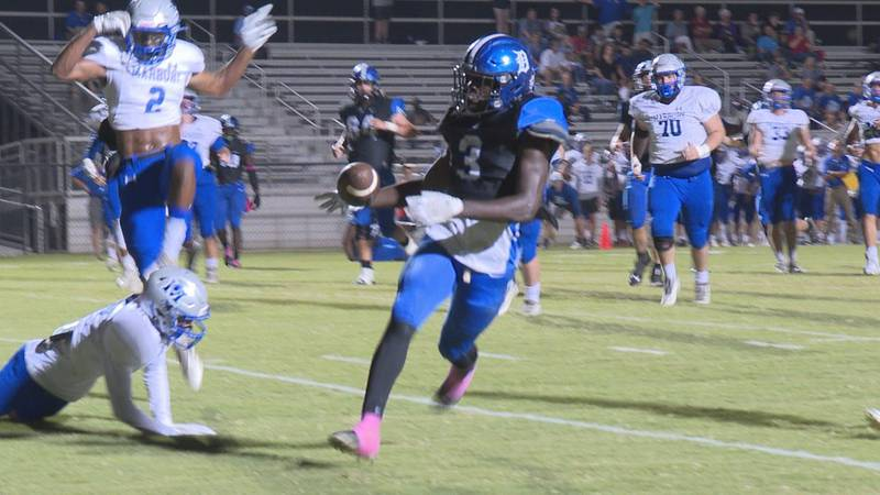 Kelvin Rowser scores first Demopolis touchdown in game against Marbury. The Tigers went on to...