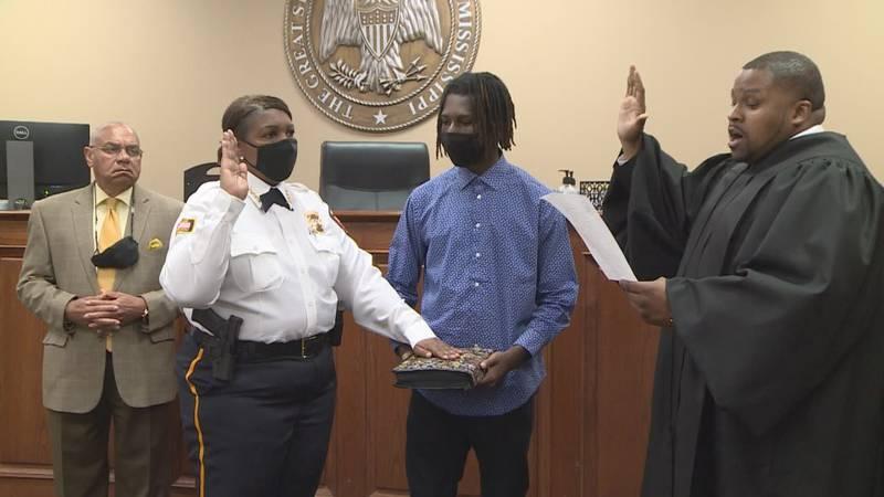 Police Chief Deborah Young was sworn in Friday.