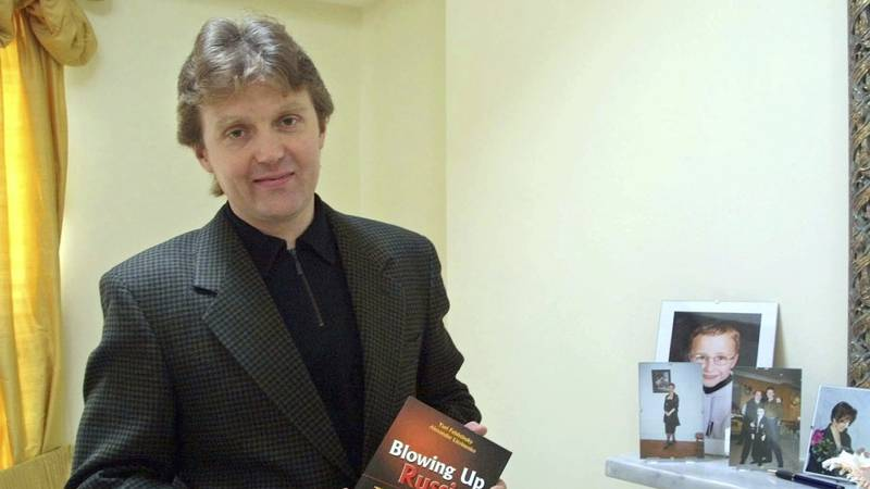 FILE - In this Friday, May 10, 2002 file photo, Alexander Litvinenko, a former KGB spy and...