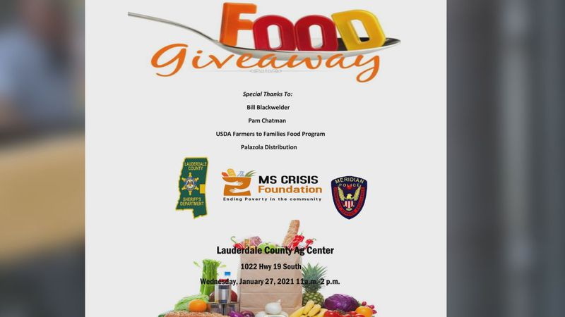 Food giveaway scheduled for Wednesday.