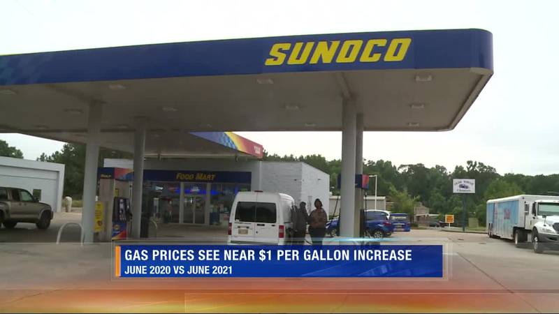 Mississippi gas price average increases after one year
