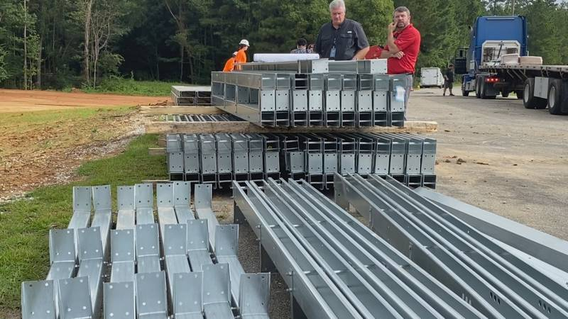 Solar panels were delivered Monday to Northeast Middle School, part of the Lauderdale County...
