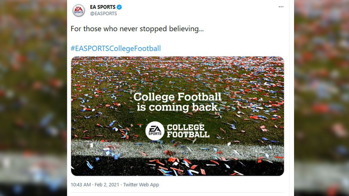 EA Sports announced the return of its popular college football series.