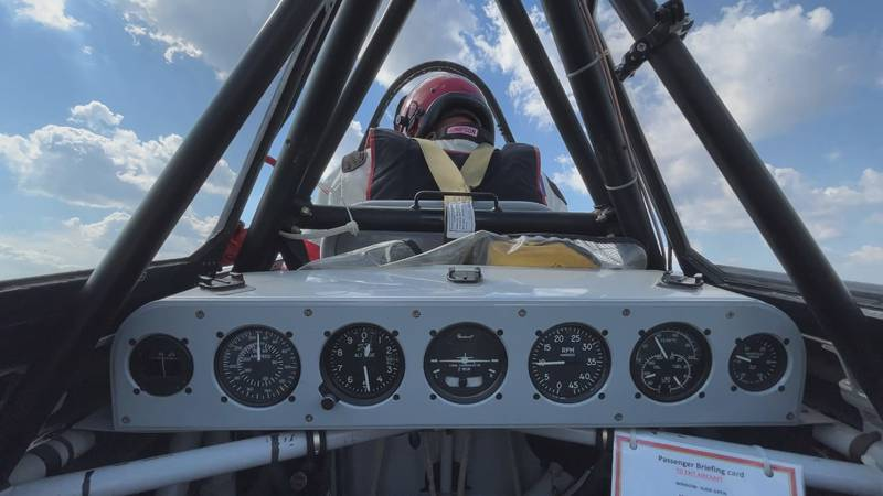 The pressure of G-force is no joke, especially when riding in a high-speed aircraft. Newscenter...