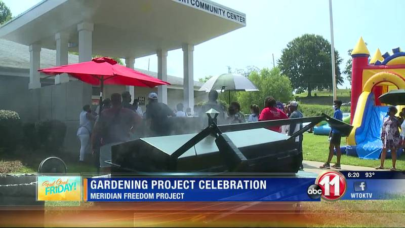 Meridian Freedom Project celebrates end of a gardening project