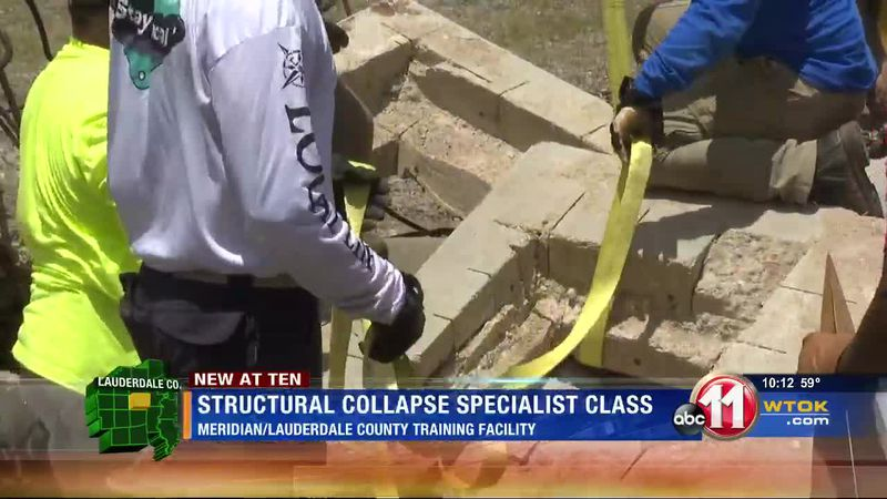 Training course focuses on collapsed structure rescue