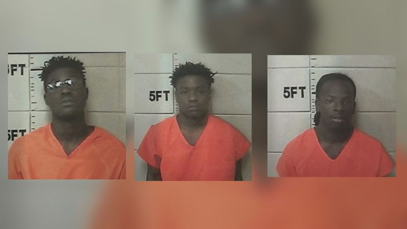 Aaron Mosley, Richard Jones and Samaud Williams are being charged in connection with a Monday...