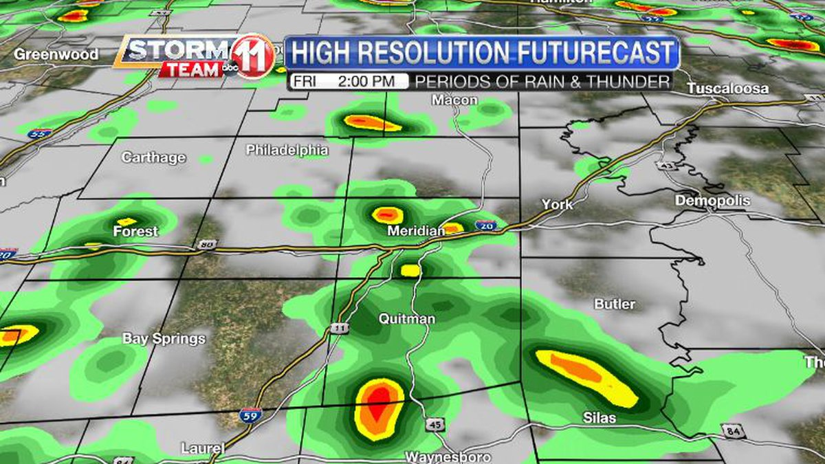More rain is likely on Friday.