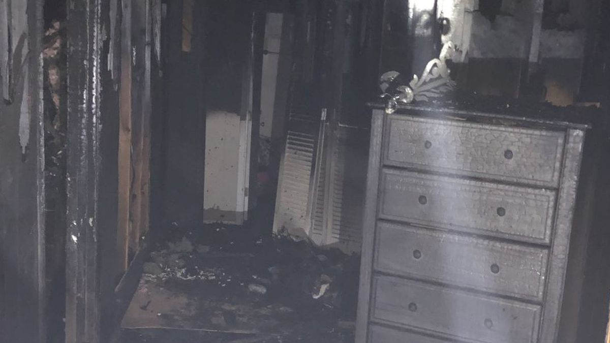 The home of a Jones County pastor was badly damaged by fire Monday. (Source: Jones County Fire...
