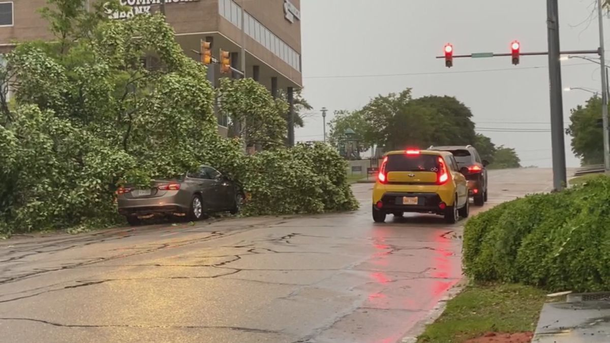 May 4, 2021, storms downed trees and powers lines, knocking out power to thousands of...
