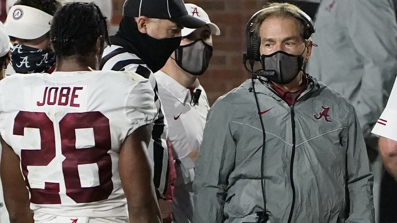 No. 1 Alabama's iconic coach Nick Saban tested positive for COVID-19 just before the game with...