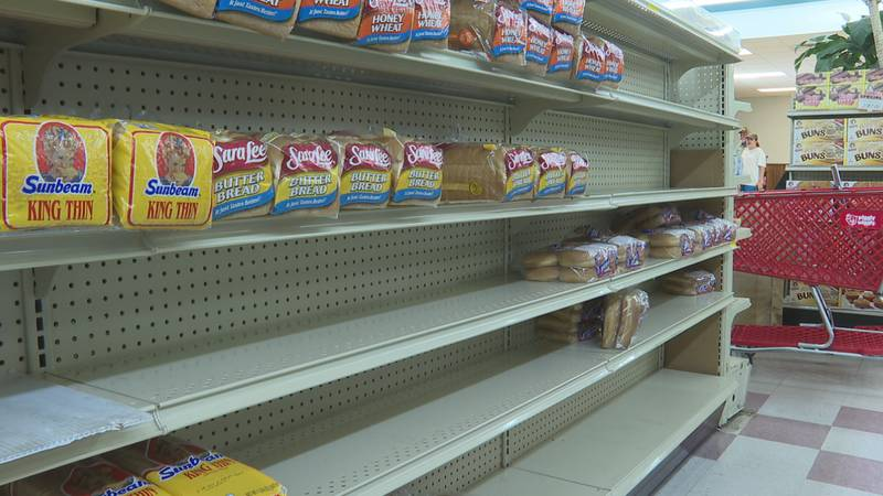 People are seeing limited items at grocery stores, both before and after Hurricane Ida hit the...
