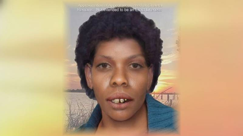 A rendering of a Jane Doe found in Jackson County in 1977 shows what investigators believe the...
