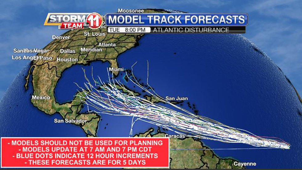 A lot of agreement among the various track forecasts is a good thing for a forecast, but this...