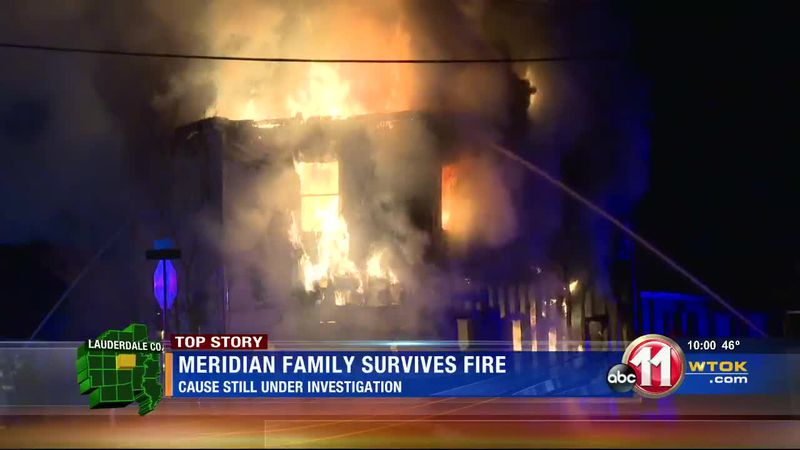Meridian family survives fire