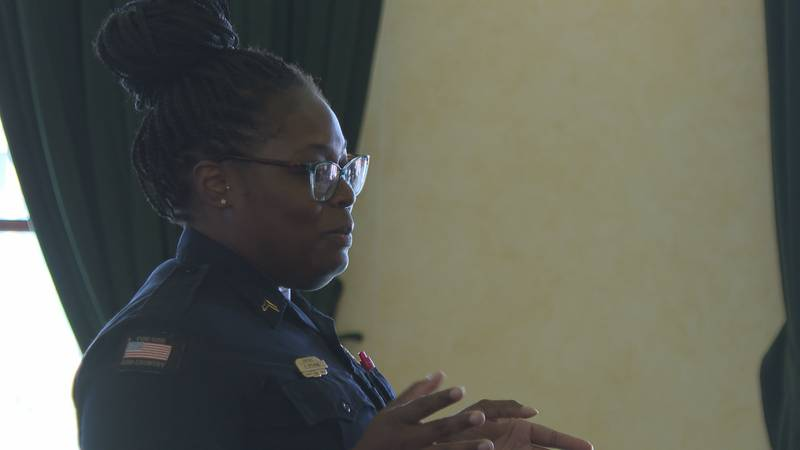 CPLl Chanetta Stevens addressed the Meridian City Council about officer pay.