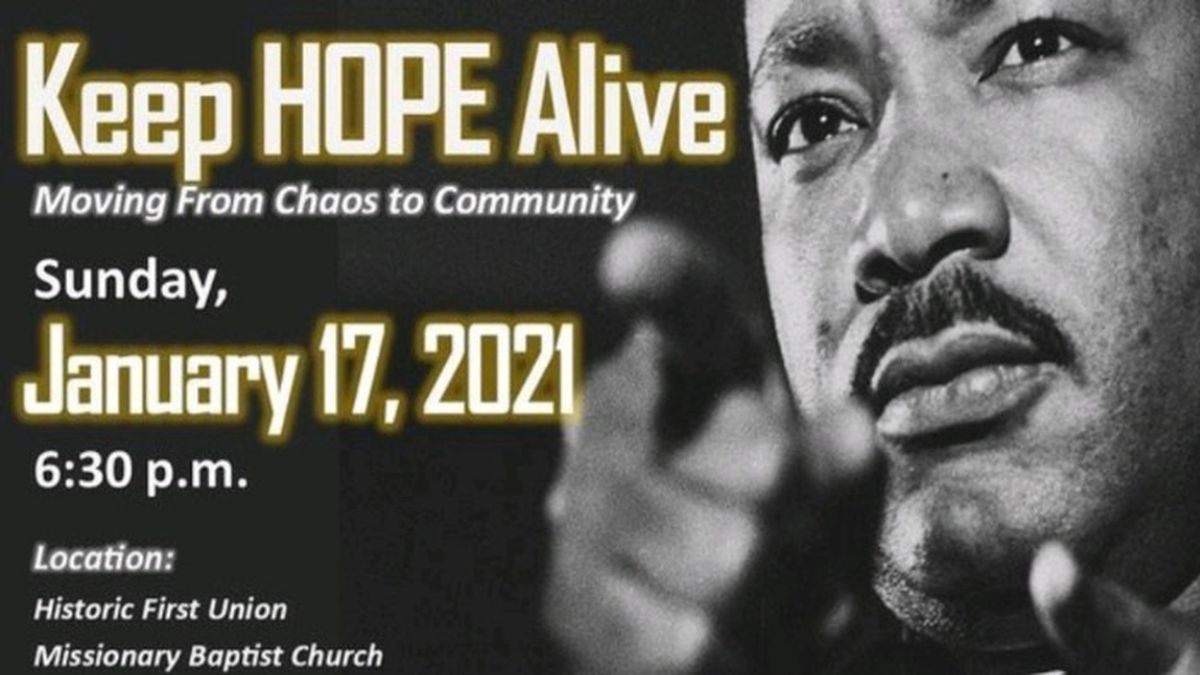 A virtual MLK celebration will be livestreamed from Meridian's historic First Union Missionary...