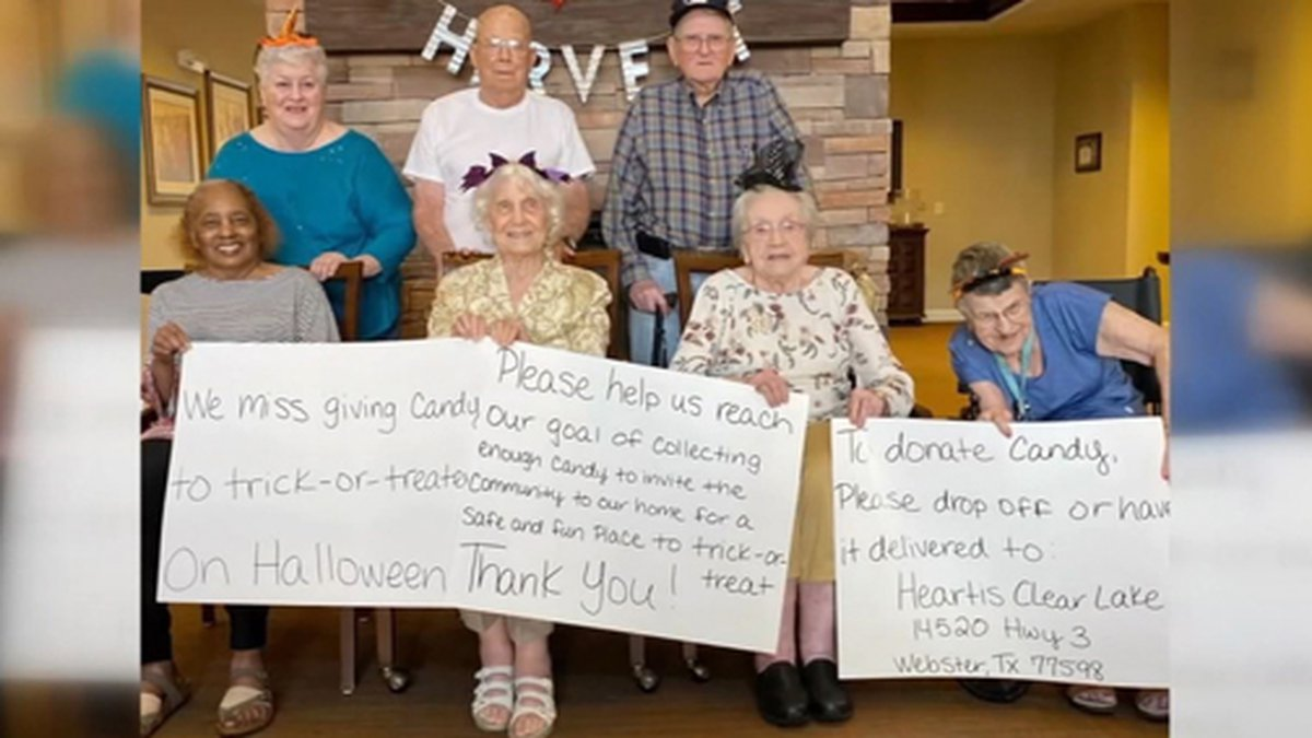 Residents of a Texas senior home got on social media to get Halloween candy for kids. (Source:...