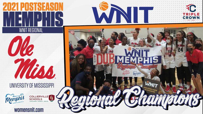 Ole Miss women's basketball won the Memphis Region in the WNIT