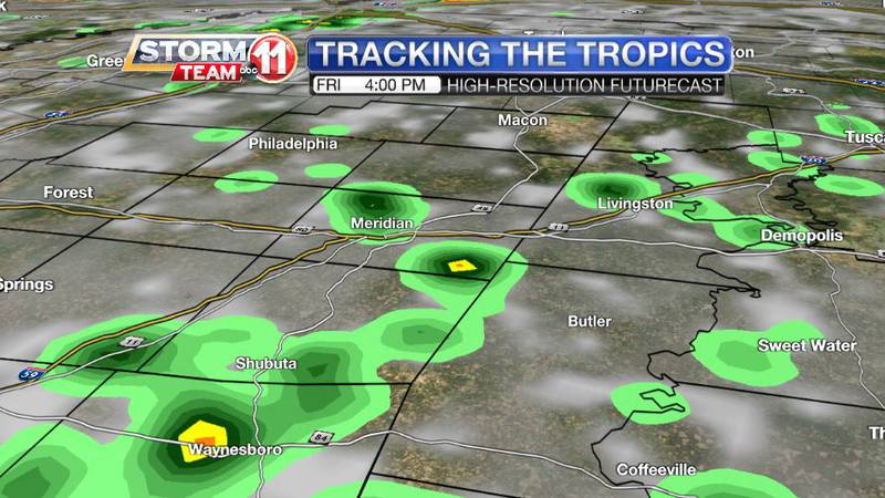 We'll have more scattered summer-like showers on Friday afternoon and evening. Some of us will...