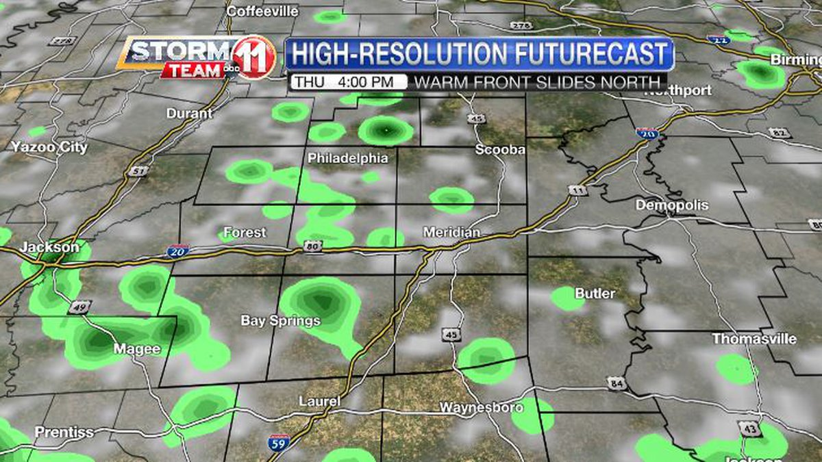 Showers will return to our forecast, but there will be dry areas.
