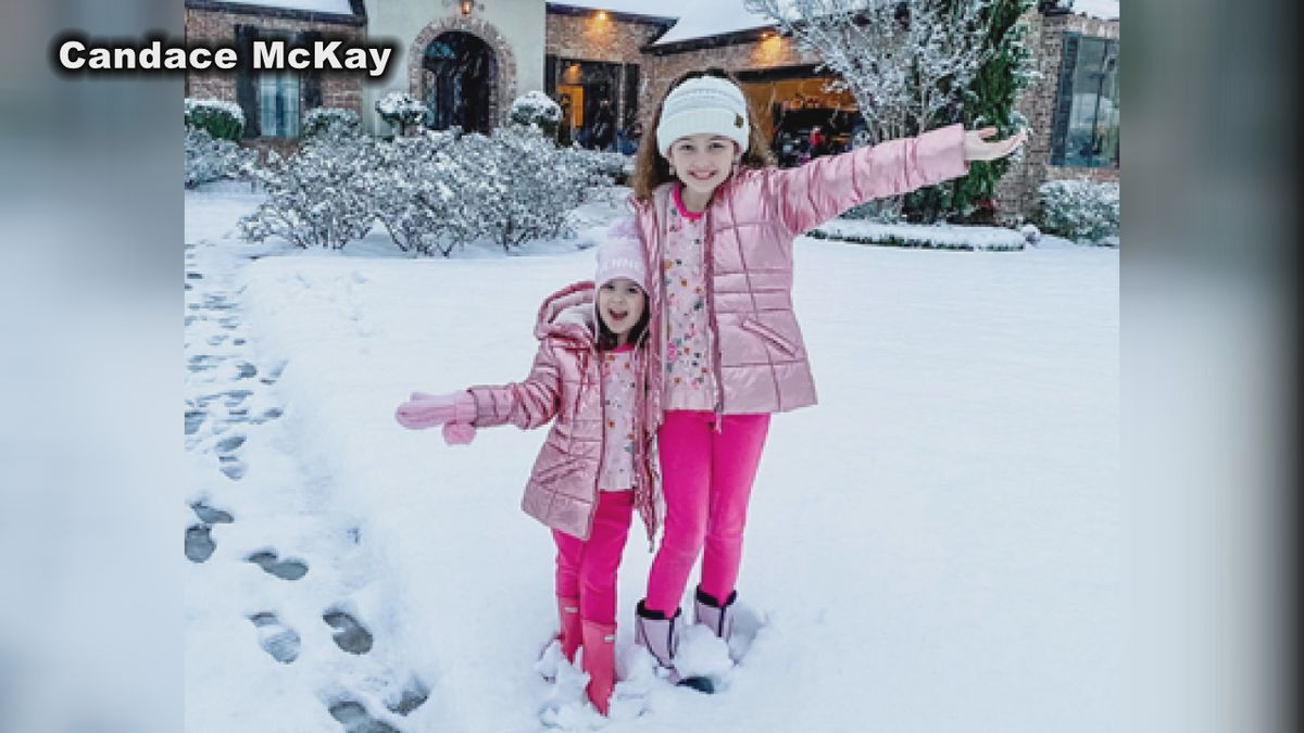 Reese and Kennedy McKay on snow day in Philadelphia.