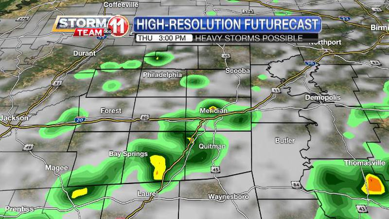 A summer-like weather pattern will favor scattered showers and thunderstorms that are possible...