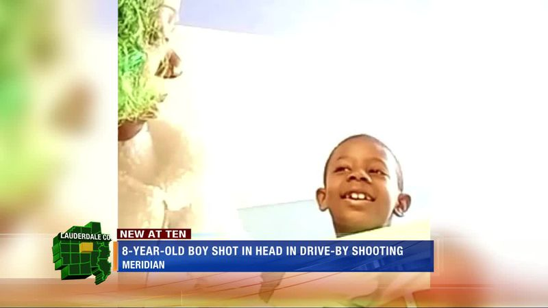 8-year-old boy shot in the head in drive-by shooting