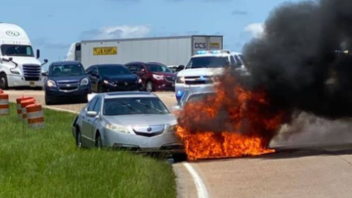 A car accident led to a fire in Pearl around 1 p.m. Friday, according to the Pearl Police...
