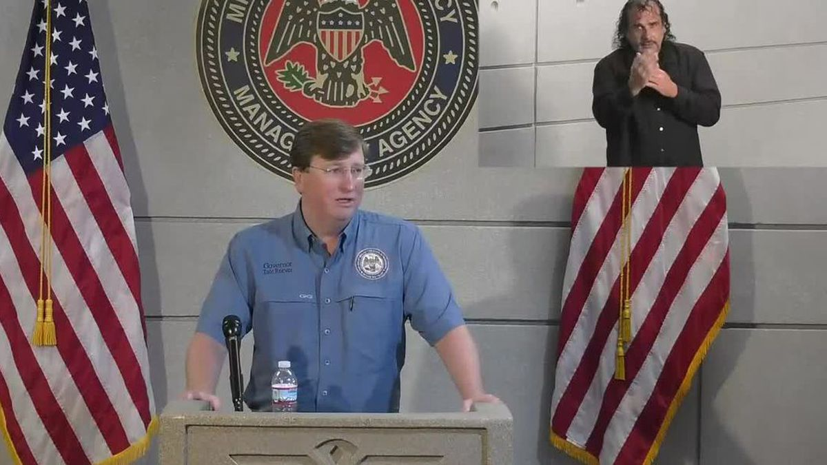 Gov Reeves updates the media on Tropical Storm Sally