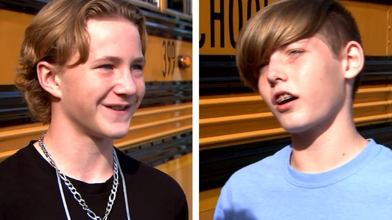 Kane Daughtrey and Conner Doss jumped into action when they saw their school bus driver having...