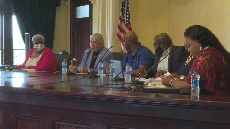 New councilmembers meet for the first time after taking office.