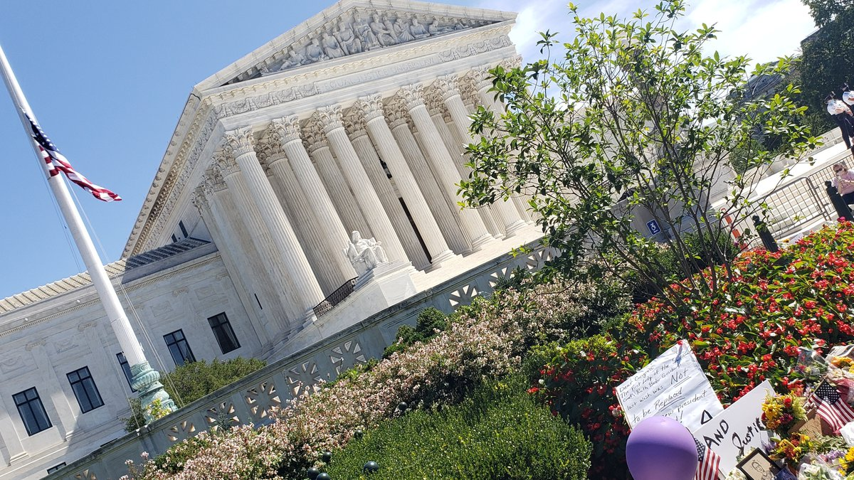Memorial honors the memory of Justice Ruth Bader Ginsburg outside the Supreme Court