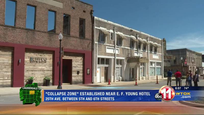 Historic hotel causes safety concern in downtown Meridian