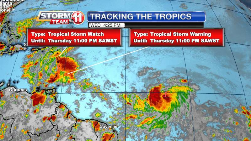 Tropical Depression Five formed in the Atlantic Wednesday evening. It is expected to become a...